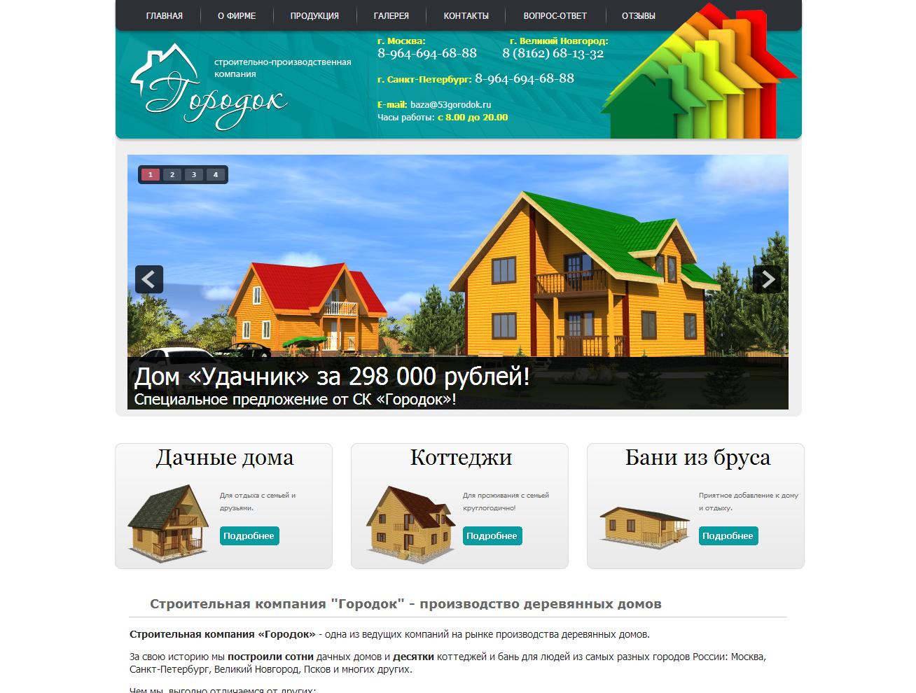 Красивые сайты строительных компаний