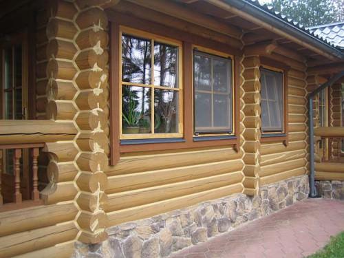 строительства дома из бревна